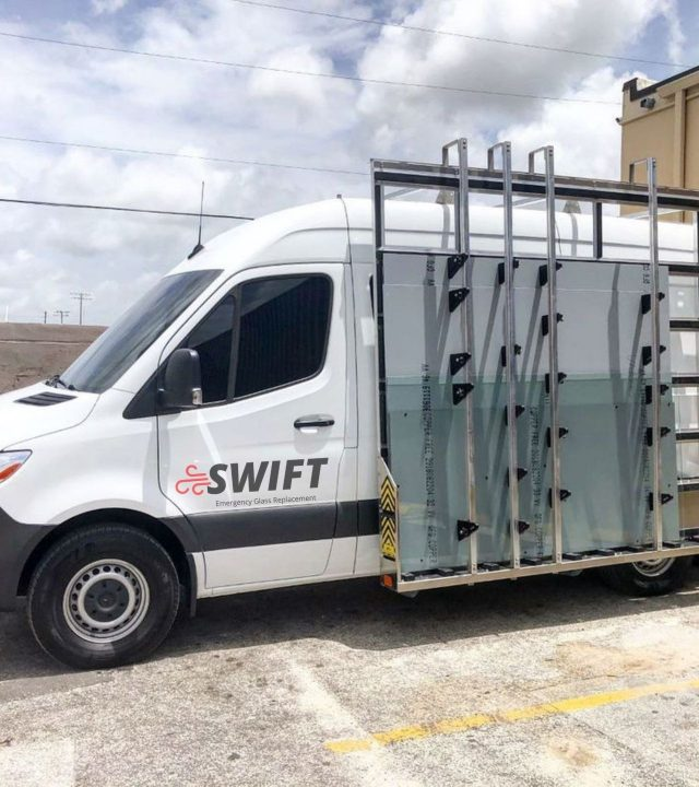 swift emergency glass replacement van